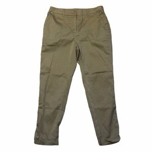 Chico Cuffed Ankle Military Green Pants - Sz 1